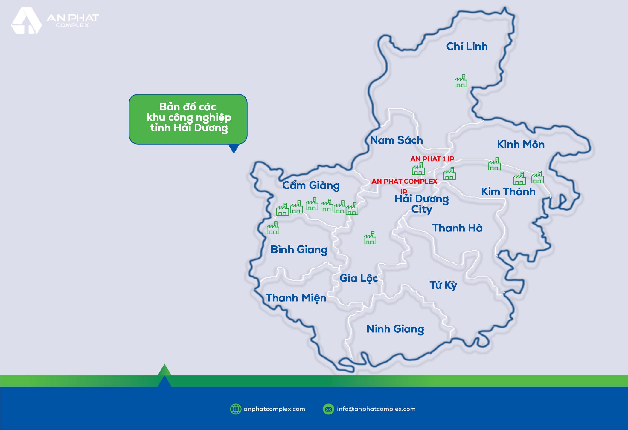 Bản đồ KCN tỉnh Hải Dương